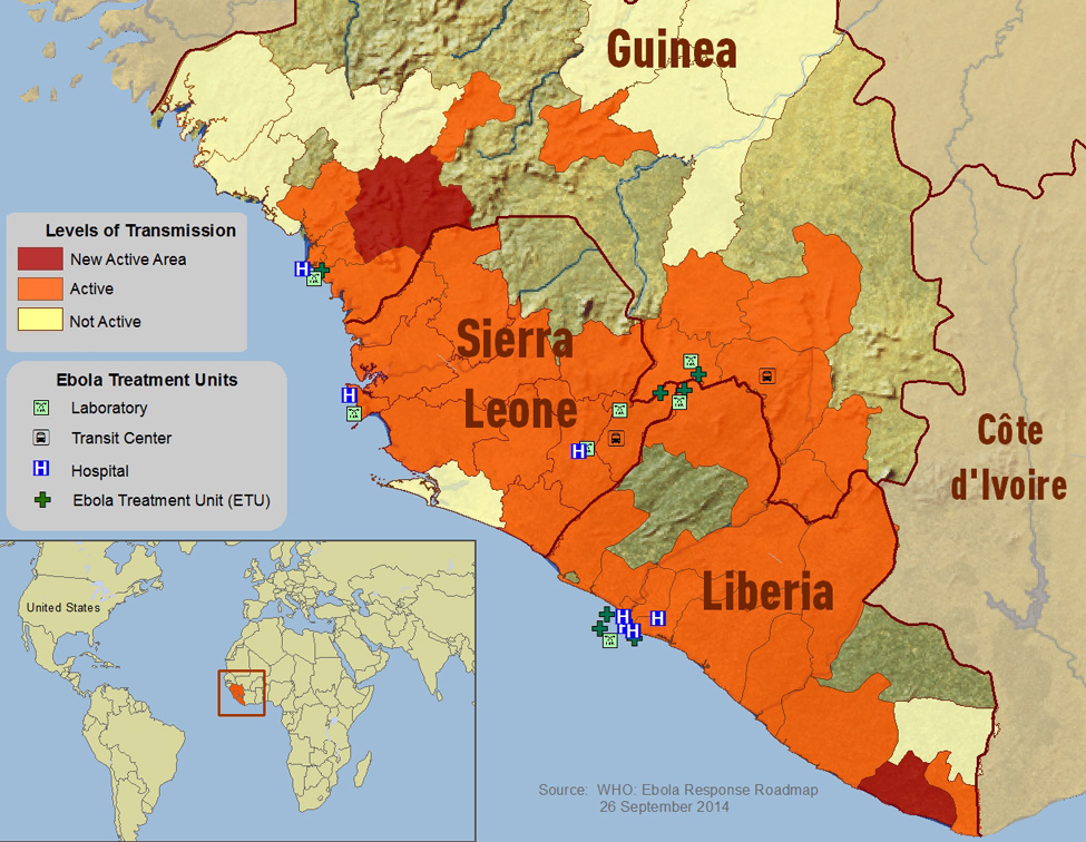 CDC Ebola Distribution Map: Click to enlarge
