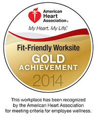 AHA Fit-Friendly Worksite - Gold Achievement 2014