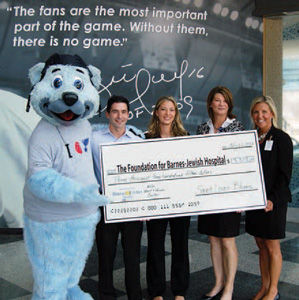 St  Louis Blues Gives From the Heart - Foundation - Barnes