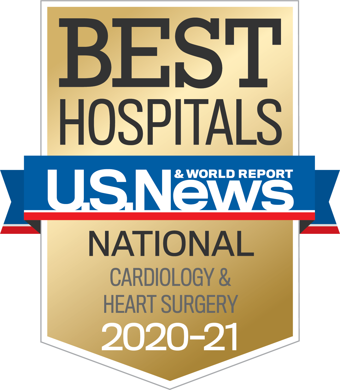U.S. News Badge - BJH Ranked in Cardiology and Heart Surgery