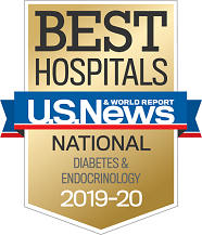 U.S. News and World Report Best Hospitals Badge - Diabetes & Endocrinology