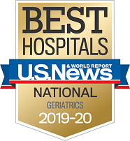 U.S. News and World Report Best Hospitals Badge - Geriatrics
