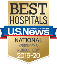 U.S. News and World Report Best Hospitals Badge - Neurology & Neurosurgery