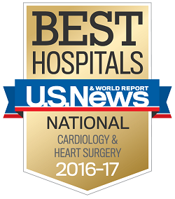 U.S. News & World Report Best Hospitals National Cardiology & Heart Surgery